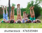 barefoot kids | Shutterstock . vector #476535484