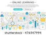 vector elegant thin line flat... | Shutterstock .eps vector #476547994