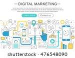 vector elegant thin line flat... | Shutterstock .eps vector #476548090