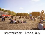 people at open air concert on... | Shutterstock . vector #476551009