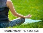 young woman doing yoga... | Shutterstock . vector #476551468