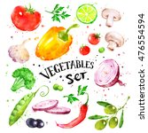 hand drawn watercolor colorful... | Shutterstock . vector #476554594