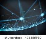 futuristic virtual technology... | Shutterstock . vector #476555980