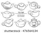 teapots set   Shutterstock .eps vector #476564134