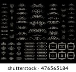 vintage set exclusive borders... | Shutterstock . vector #476565184