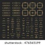 vintage set exclusive borders... | Shutterstock . vector #476565199