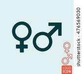 gender icon. women and men  ... | Shutterstock .eps vector #476569030
