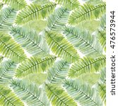 seamless pattern with leaves of ... | Shutterstock . vector #476573944