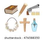 weapons vampire hunter. tools... | Shutterstock .eps vector #476588350