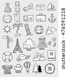 set of travel doodles | Shutterstock .eps vector #476591218