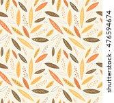 falling autumn leaves seamless... | Shutterstock .eps vector #476594674