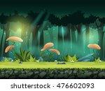 vector horizontal seamless... | Shutterstock .eps vector #476602093