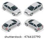 isometric car. flat 3d vector... | Shutterstock .eps vector #476610790