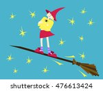 colorful mighty sorcerer on the ... | Shutterstock .eps vector #476613424