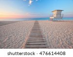 beautiful beach in the morning... | Shutterstock . vector #476614408