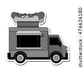 hot dog truck delivery fast... | Shutterstock .eps vector #476626180