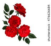 Stock vector rose isolated on white perfect for background greeting cards and invitations of the wedding 476626684