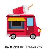 drink truck delivery fast food... | Shutterstock .eps vector #476626978