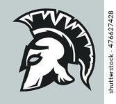 spartan helmet silhouette ...   Shutterstock .eps vector #476627428