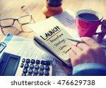 goals business brand launch... | Shutterstock . vector #476629738