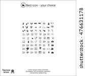 technology icons | Shutterstock .eps vector #476631178