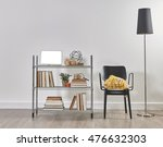 modern bookcase and accessories ... | Shutterstock . vector #476632303