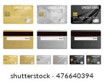 vector credit cards set ... | Shutterstock .eps vector #476640394