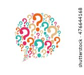 question mark bubble ask symbol ... | Shutterstock .eps vector #476644168
