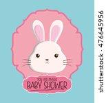 rabbit animal cartoon baby... | Shutterstock .eps vector #476645956