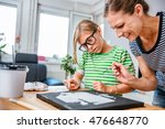 mother and daughter together...   Shutterstock . vector #476648770