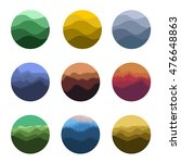 isolated abstract colorful... | Shutterstock .eps vector #476648863