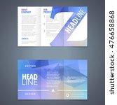 vector tri fold brochure flyer... | Shutterstock .eps vector #476658868