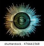 vector eyeball future... | Shutterstock .eps vector #476661568
