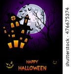 halloween night background | Shutterstock . vector #476675374