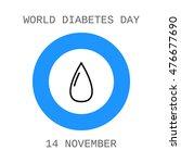 world diabetes day. drop of... | Shutterstock .eps vector #476677690
