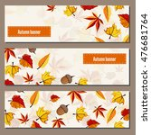 Autumn Leaves Fall On Banner...