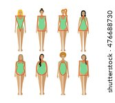 different female body types.... | Shutterstock . vector #476688730