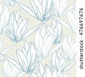floral seamless pattern. vector ... | Shutterstock .eps vector #476697676
