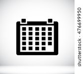 calendar icon  vector best flat ... | Shutterstock .eps vector #476699950