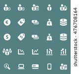 business and finance icons set...