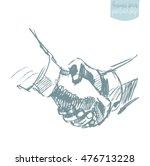 two people shake hands ... | Shutterstock .eps vector #476713228