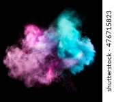colorful powders on black... | Shutterstock . vector #476715823