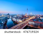 Berlin Mitte Skyline At Evenin...