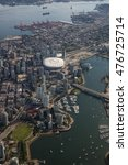 Small photo of Aerial photography of Vancouver Downtown, and BC Stadium