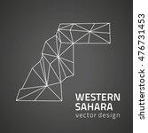 western sahara vector black... | Shutterstock .eps vector #476731453