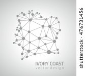 ivory coast dot grey vector... | Shutterstock .eps vector #476731456