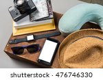 packed suitcase of vacation... | Shutterstock . vector #476746330