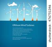 horizontal axis wind turbines... | Shutterstock .eps vector #476751346