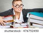 job secretary nerdy... | Shutterstock . vector #476752450