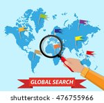 global search concept  world... | Shutterstock .eps vector #476755966